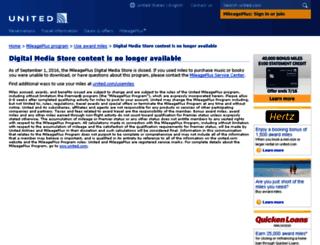 digitalmediastore.mileageplus.com screenshot