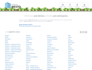 digitalnemesto.sk screenshot
