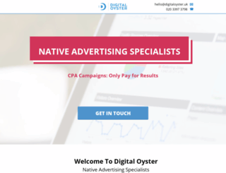 digitaloyster.co.uk screenshot