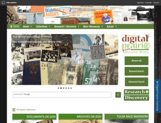 digitalprairie.ok.gov screenshot