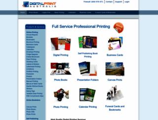 digitalprintaustralia.com screenshot
