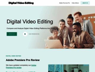 digitalvideoediting.com screenshot