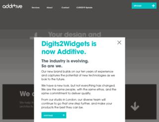 digits2widgets.com screenshot