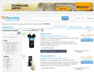 diktafony.heureka.cz screenshot