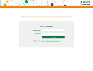 dils.dekra-lms.de screenshot