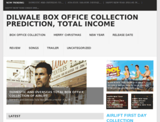 dilwaleboxofficecollections.co.in screenshot