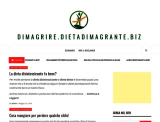 dimagrire.dietadimagrante.biz screenshot