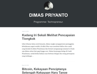dimaspriyanto.com screenshot