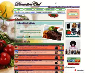 dimensionchef.com screenshot