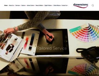 dimensions.co.uk screenshot