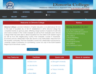 dimoriacollege.org screenshot