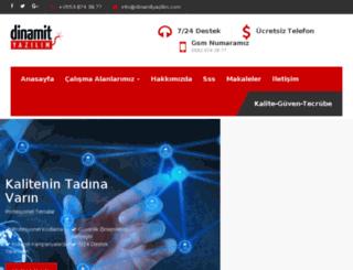 dinamityazilim.com screenshot