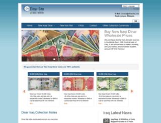 dinarsite.com screenshot