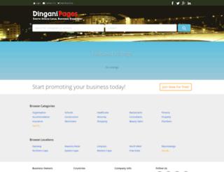 dinganipages.co.za screenshot