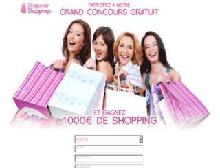 dingue-de-shopping.com screenshot