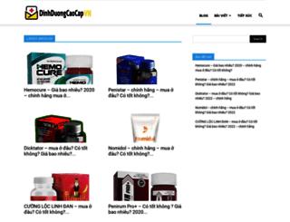 dinhduongcaocap.vn screenshot