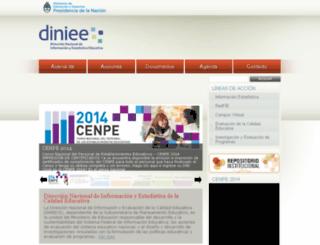 diniece.me.gov.ar screenshot