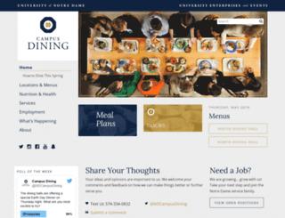 dining.nd.edu screenshot