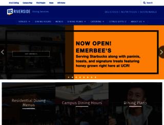 dining.ucr.edu screenshot