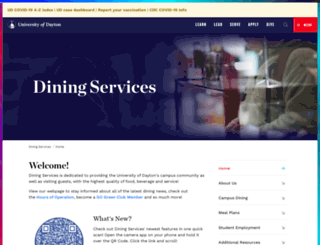 dining.udayton.edu screenshot