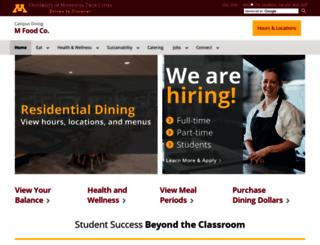 dining.umn.edu screenshot