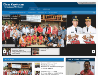 dinkes.mentawaikab.go.id screenshot