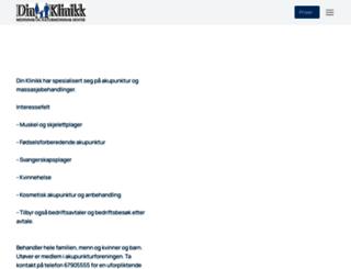 dinklinikk.no screenshot