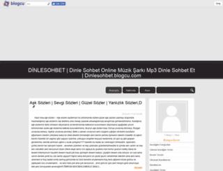 dinlesohbet.blogcu.com screenshot