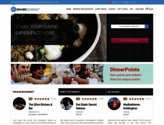 dinnerbooking.com screenshot