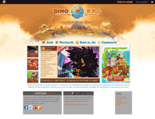dinorpg.com screenshot