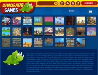dinosaur-games.org screenshot