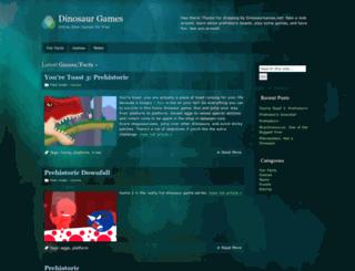 dinosaurgames.net screenshot