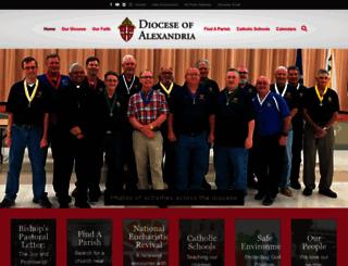 diocesealex.org screenshot