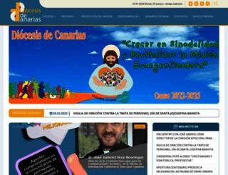 diocesisdecanarias.es screenshot