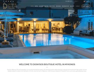 dionysoshotel.com.gr screenshot