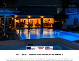 dionysoshotel.com screenshot