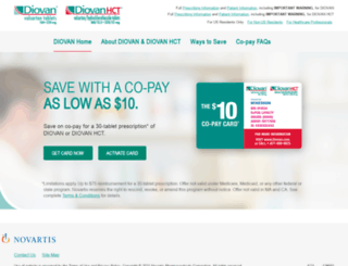 diovan.com screenshot