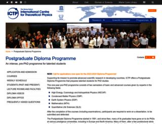 diploma.ictp.it screenshot