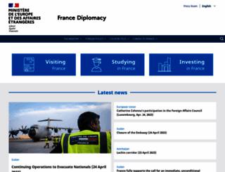 diplomatie.gouv.fr screenshot