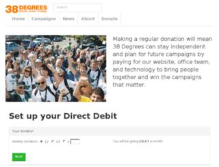 direct-debits.38degrees.org.uk screenshot