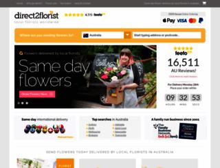 direct2florist.com.au screenshot