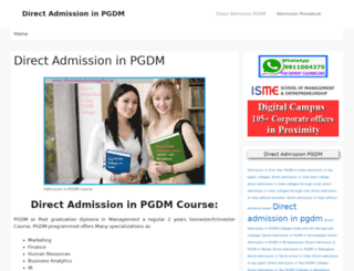 directadmissionpgdm.in screenshot