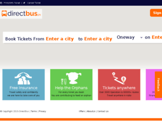 directbus.in screenshot