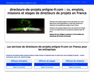 directeurs-de-projets.enligne-fr.com screenshot