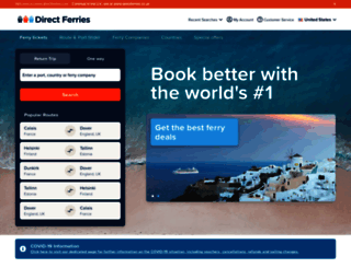 directferries.co.uk screenshot