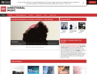 directionalmusic.sourceaudio.com screenshot