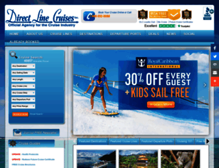 directlinecruises.com screenshot