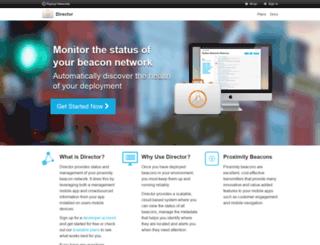 director.radiusnetworks.com screenshot
