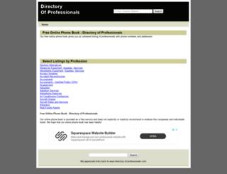 directory-of-professionals.com screenshot