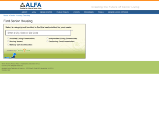 directory.alfa.org screenshot